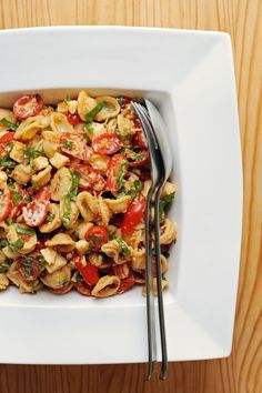 Pasta salad is an easily portable option that fills you up and won't let you down. For a seasonally appropriate option, try this sun-dried tomato pasta salad.