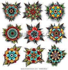 Encontre imagens stock de Old School Tattoo Art Flowers Design em HD e milhões de outras fotos, ilustrações e imagens vetoriais livres de direitos na coleção da Shutterstock. Milhares de fotos novas de alta qualidade são adicionadas todos os dias.
