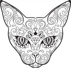 Advanced Coloring Sugar Skull 4 - KidsPressMagazine.com