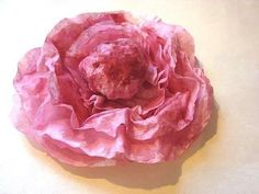 PAPER PEONY FLOWER from coffee filters. - YouTube