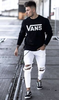 Trendy Outfits For Men - Modern Male Style And Fashion Ideas Source by cekimzy outfits mens menswear Stylish Mens Outfits, Sporty Outfits, Urban Outfits, Modern Outfits, Fresh Outfits, Vans Outfit Men, Fashion Mode, Fashion Outfits, Fashion Ideas