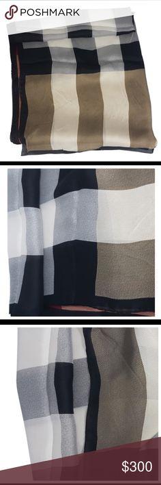 Burberry Silk Shawl 100% silk. Model code 4014834 Burberry Accessories Scarves & Wraps
