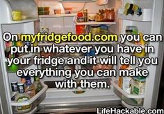 My Fridge Food... Oh my goodness! Where has this been!