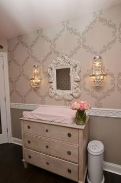 My Pink and Grey Palace Nursery was inspired by several pieces of tufted…