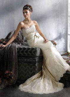 pretty lace Lazaro Bridal Gowns, Wedding Dresses: Style LZ3814