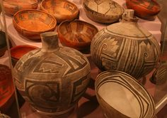 Ancient Puebloan pottery in New mexico.