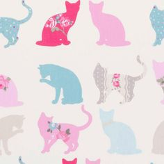 Composition: Cotton Width: Pattern Repeat: Vertical: Horizontal: Colour: Aqua / Pink *** Felix the cat fabric design in Aqua. Cats in fuchsia and turquoise on a white background, Pussycat Kids Fabric, Craft Fabric *** This fabric is the very best Aqua Fabric, Cat Fabric, Cotton Fabric, Childrens Curtains, Clarke And Clarke Fabric, Free Fabric Samples, Felix The Cats, Craft Projects For Kids, Craft Ideas