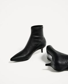 Image 7 of MID HEEL ELASTIC ANKLE BOOTS from Zara