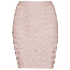 Honey couture macy pink geometric criss cross bandage skirt ($119) ❤ liked on Polyvore featuring skirts, mini skirts, patterned bodycon skirt, mini skirt, print skirt, body con mini skirt and bandage mini skirt
