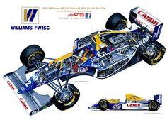 Williams s FW15C  Cutaway by Tony Matthews