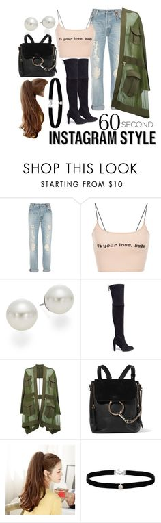 """""""Untitled #691"""" by casssiaaa ❤ liked on Polyvore featuring HTC, AK Anne Klein, Stuart Weitzman, Balmain, Chloé, Amanda Rose Collection, 60secondstyle and PVShareYourStyle"""