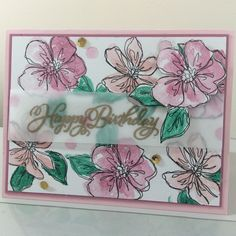 Penned & Painted StampinUp. Made by Barbara