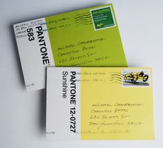 i want these postcards! a box of 100 pantone postcards for $20. get them here: http://www.chroniclebooks.com/pantone-100-postcards.html