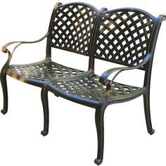 Cool Hampton Bay Legacy Aluminum Patio Bench C526 62 The Home Creativecarmelina Interior Chair Design Creativecarmelinacom