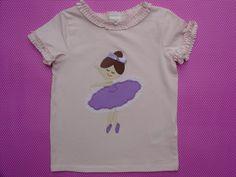Camiseta con bailarina por LacasitadeCaperucita en Etsy