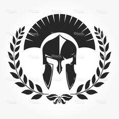 Gladiator with laurel wreath