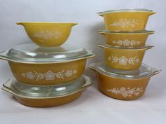 Orange Butterfly, Nesting Bowls, Vintage Pyrex, Bowl Set, Old Things, Etsy Shop, Tableware, Glass