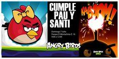 Invitación Angry Birds