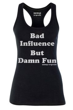 Women's Bad Influence But Damn Fun Tank Top