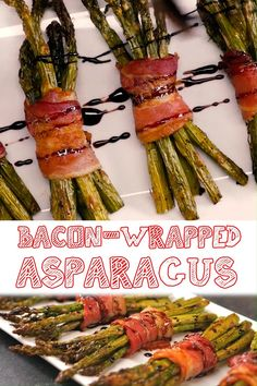 Grilled Asparagus Recipes, Bacon Recipes, Cooking Recipes, Healthy Recipes, Roasted Asparagus Recipe, Baked Parmesan Asparagus, Recipes With Bacon Easy, Bacon Wrapped Asparagus Baked, Asparagus