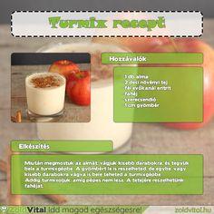 Alma turmix recept #recept #turmix #smoothie