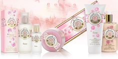Collection Rose : Eau Fraiche, Round Soaps, Perfumed Liquid Soaps, Shower care, 3 soap coffrets, Body lotion, Hand cream - Roger&Gallet