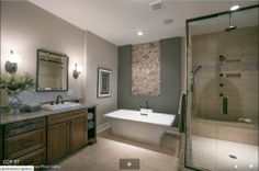 Nice bathroom from BIA Parade of Homes web site.  Maybe I should consider painting the whirlpool tub wall a contrasting color.