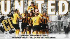 C u f c Carlisle United, Cambridge United, The Unit, Sports, Hs Sports, Sport