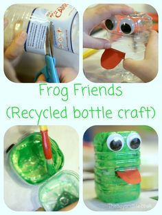 Frog Friends (Recycled bottle craft)