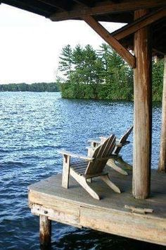 I need a lake house with this backyard Lake Cabins, Cabins And Cottages, Lakeside Living, Outdoor Living, Lakeside Cottage, Peaceful Places, Beautiful Places, Amazing Places, Haus Am See