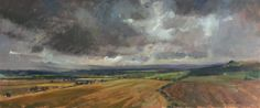 Heavy Clouds over the Vale of Pewsey. Oil Painting by Alice Boggis-Rolfe