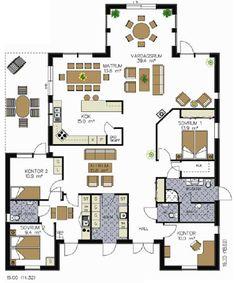 EkoHus - Villa Margareta Home And Away, Sims 4, My House, House Plans, Scale, Garage, Villa, Floor Plans, Home And Garden