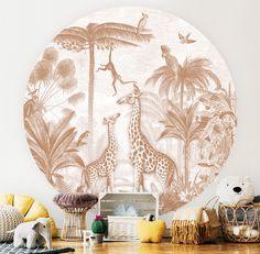 Safari Nursery, Kids Room Design, Terracotta, Wall, Nursery Ideas, Girl Rooms, Murals, Pintura, Project Nursery