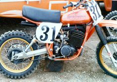 For this week's GP's Classic Steel, we are going to take a look back at Harley's last endeavor (at least for now) into the world of motocross, the 1978 AMF/ Harley-Davidson For this week's GP' Harley Dirt Bike, Amf Harley, Motorcycle Dirt Bike, Dirt Biking, Enduro Vintage, Vintage Motocross, Vintage Bikes, Vintage Motorcycles, Mx Bikes