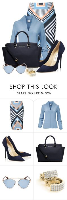 """September Third"" by shaniquajenae ❤ liked on Polyvore featuring WithChic, Jimmy Choo, Michael Kors, Christian Dior and Huggies"