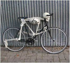 Skeleton bike!  (Rolling Bones ;)