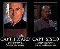 Star Trek Meme, Star Wars, Deep Space Nine, Star Trek Captains, Star Trek Characters, Fictional Characters, Funny Memes, Hilarious, Star Trek Series