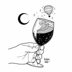 Spilled Wine Drawing - Wine Art Watercolor - Instapot Mulled Wine - Wine Girl And Boy Blackwork, Drawing Sketches, Art Drawings, Wow Art, Art Plastique, White Art, Oeuvre D'art, Art Inspo, Amazing Art