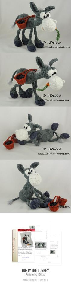 Dusty The Donkey Amigurumi Pattern