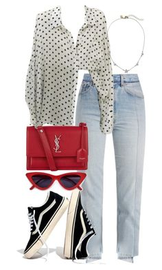 """Untitled #5454"" by theeuropeancloset on Polyvore featuring Vetements, Yves Saint Laurent and Madewell"