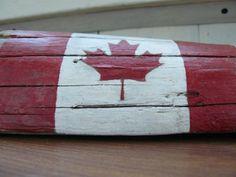 Canadian flag desk decor patriotic decor hand by BalticWoods
