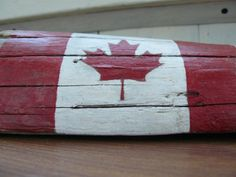 Canadian flag desk decor patriotic decor hand by BalticWoods