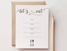Simple Arrow Design Note Card Set of 6 with by msmatilda on Etsy Dinner Party Invitations, Invites, Arrow Design, Calling Cards, Invitation Set, Paper Design, Note Cards, Party Planning, Initials