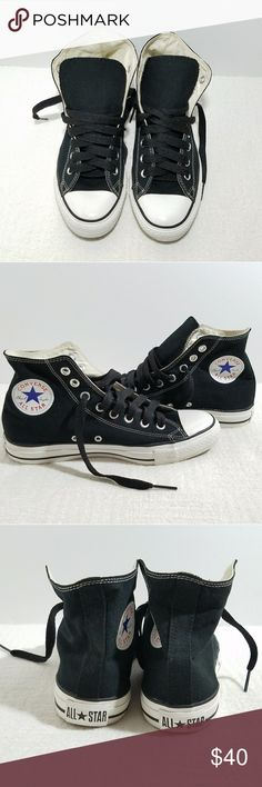 Converse Chuck Taylor All Star High Top Sneakers Sneakers are very clean, gently used, no major wear or cosmetic issues safe to wear. Shoes are pet and smoke free. Men size 7 Women size 9 Converse Shoes Athletic Shoes