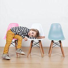 kids+junior+dsw+mcm+molded+plastic+side+chair+eiffel+dowel+leg+wood.eames,esque+