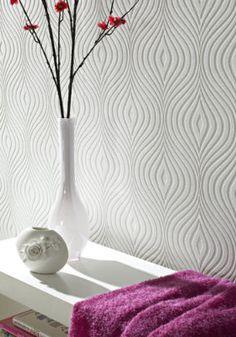 Curvy Paintable Wallpaper.