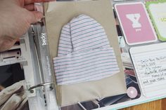 project life baby book -- love the spot for the hospital cap // Kristina Proffitt