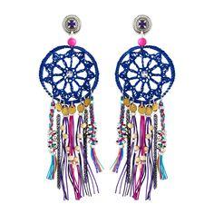 Boucles d'oreilles Peace Goa multicolore Reminiscence @ Brandalley