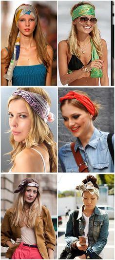 Bandana Styles, Headband Styles, Scarf Styles, Bandana Hairstyles, Messy Hairstyles, Pretty Hairstyles, New Hair Do, Love Hair, Bohemian Hairstyles