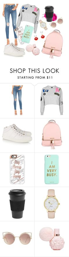 """""""Back to School '2 cool 4 u'"""" by cleo-stynen ❤ liked on Polyvore featuring Lovers + Friends, Topshop, Jimmy Choo, MICHAEL Michael Kors, Casetify, ban.do, Urban Decay, Homage, Kate Spade and MANGO"""